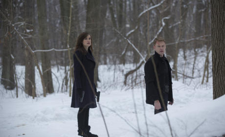 Elizabeth and Ressler in the Snow