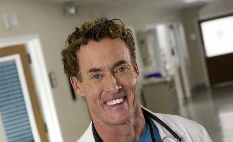 John C. McGinley Fighting Fires on Back