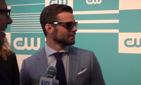 Daniel Gillies Wears Sunglasses, Reacts to Originals Finale
