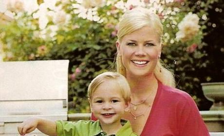 Alison Sweeney with Son