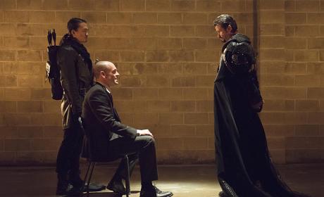 Capt. Lance Meets Ra's al Ghul - Arrow Season 3 Episode 18