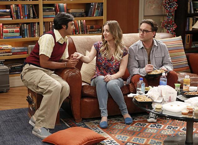 Raj Takes Penny's Hand