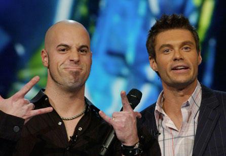 Chris Daughtry and Ryan Seacrest on American Idol