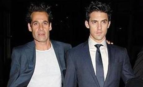 Adrian Pasdar and Milo Ventimiglia: Out and About in London