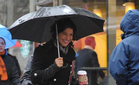 Jessica Szohr Takes a Coffee Break