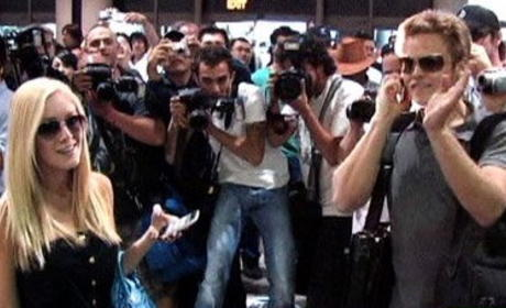 Media Swarms Spencer and Heidi at L.A. Airport