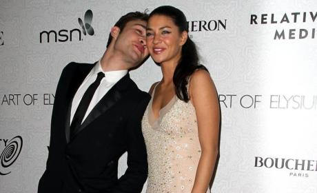 Ed Westwick and Jessica Szohr Make an Entrance
