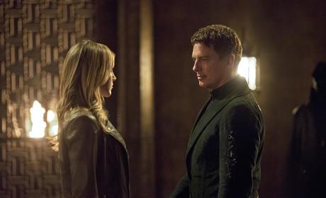 Laurel and Merlyn - Arrow Season 4 Episode 3