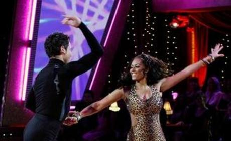 Maksim Chmerkovskiy and Melanie Brown