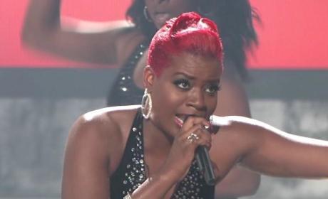 Fantasia Barrino Performs Bore Me, Frightens Simon Cowell