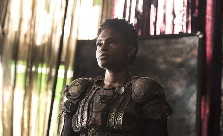 Indra Back at Polis - The 100 Season 3 Episode 3