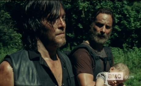 Daryl, Rick, and Judith - The Walking Dead Season 5 Episode 9