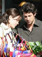 Patrick Dempsey on the set of