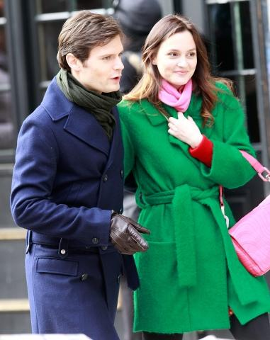 Blair and Louis on Set!