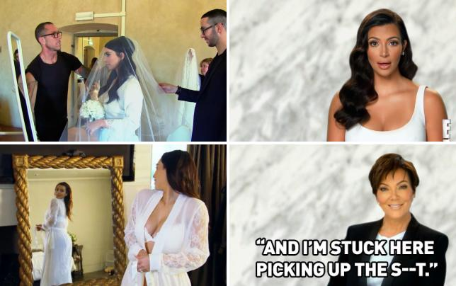 Kim and her veil keeping up with the kardashians s9e20