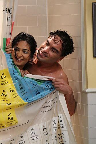 Leonard and Priya in the Shower