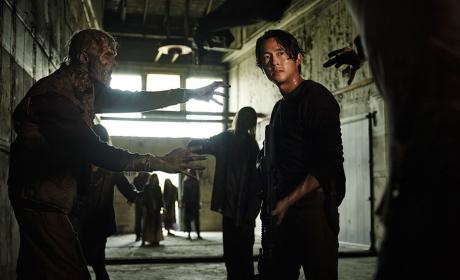 Steven Yeun as Glenn in The Walking Dead Season 5