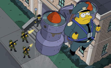 The Simpsons Season 26 Episode 16 Review: Sky Police