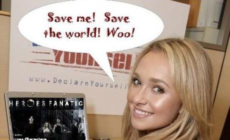 Hayden Panettiere Reads, Loves Heroes Fanatic
