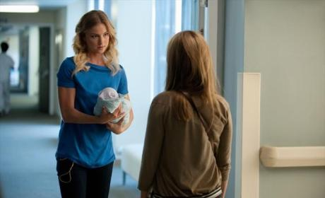 Emily Holding the Baby