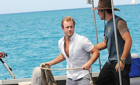 McGarrett and Danny On A Boat