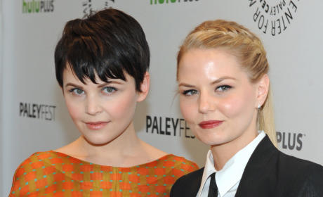 Ginnifer Goodwin and Jennifer Morrison at Paleyfest