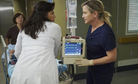 Callie and Arizona Talk - Grey's Anatomy Season 11 Episode 24