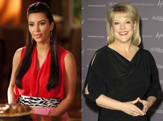 Kim Kardashian and Nancy Grace