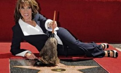 Kate Linder Poses with Hollywood Star
