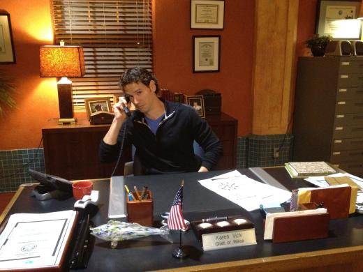 At Chief Vick's Desk