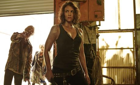 Lauren Cohan as Maggie in The Walking Dead Season 5