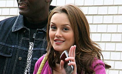 Leighton Meester Reports For Duty