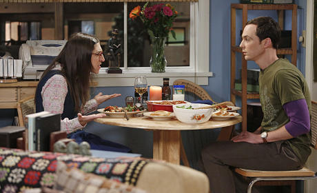 Amy and Sheldon have Dinner