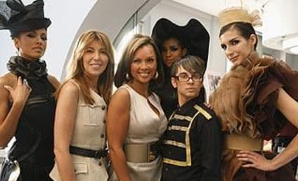 Christian Siriano Poses with Ugly Betty Cast