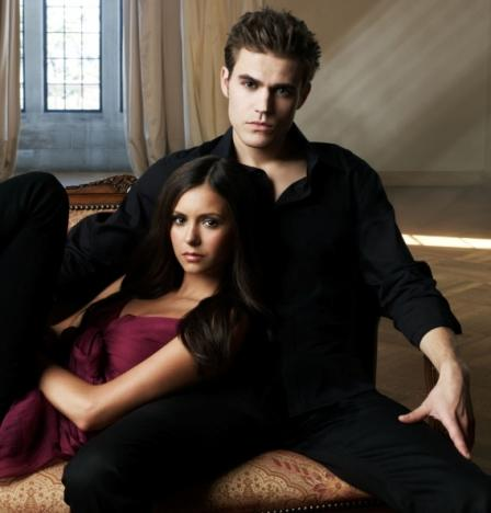 Paul Wesley and Nina Dobrev Promo Pic