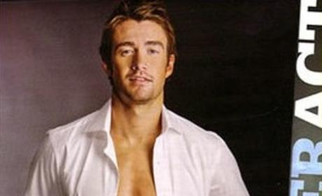 Robert Buckley in Plaid Boxers