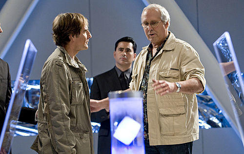 Chevy Chase and Scott Bakula on Chuck