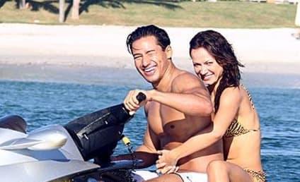 Karina Smirnoff and Mario Lopez Go for a Ride