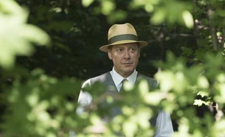 Red walks through the woods - The Blacklist Season 4 Episode 2