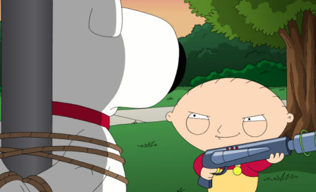 Stewie with a Shotgun