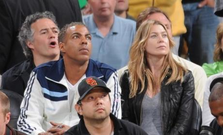 Ellen Pompeo, Chris Ivery Cheer on Celtics