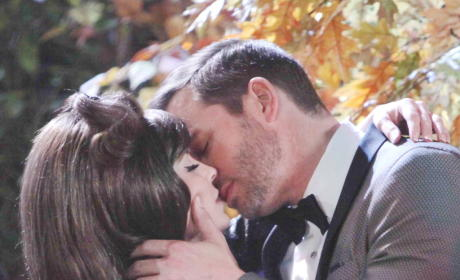 Theresa and Brady Kiss - Days of Our Lives