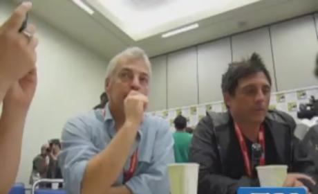 Jeff Pinkner and J.H. Wyman at Comic Con