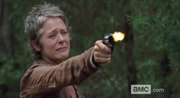 Carol Shoots Lizzie