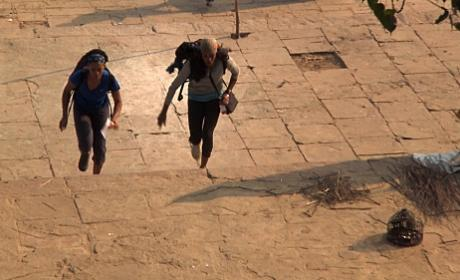 Jen and Kisha Run The Steps