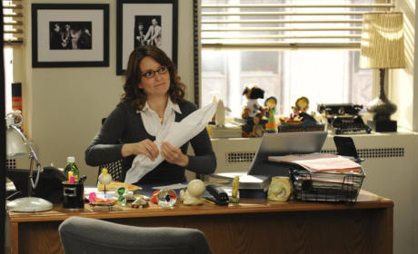 Liz Lemon  at Her Desk
