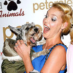 Katherine Heigl and Puppy