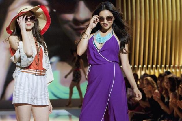 Spencer and Emily on the Runway