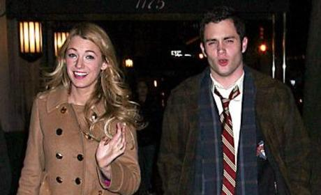 Penn Badgley, Blake Lively Take Five