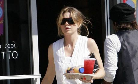 Ellen Pompeo Out, About in Hollywood